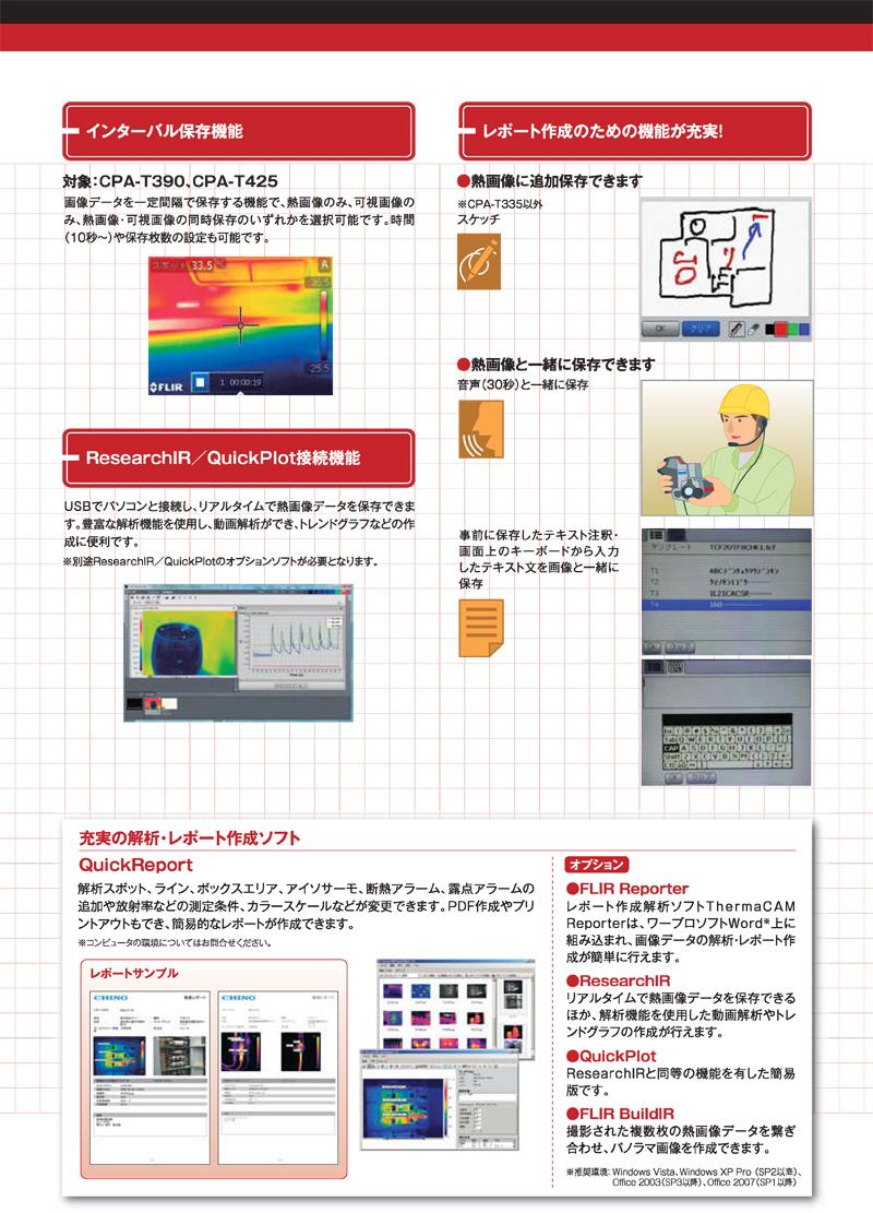 赤外センサーグラフィー サーモカメラ CPA-Tシリーズ